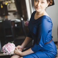 Подружка невесты в синем