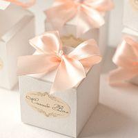 """Бон-бон коробочки для подарков гостям из коллекции """"Персиковая нежность"""""""