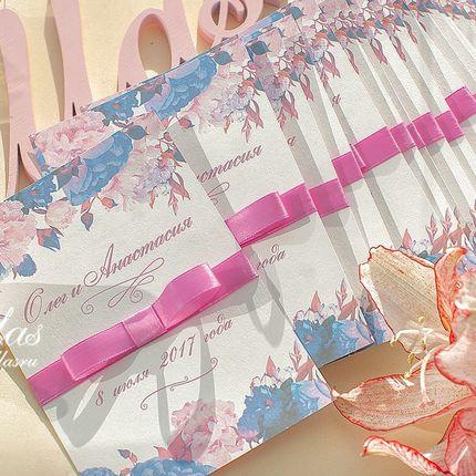 Приглашения-открытки в цвете вышей свадьбы