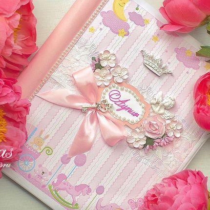Фотоальбом ручной работы в розовом цвете