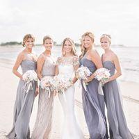 подружки невесты в сером