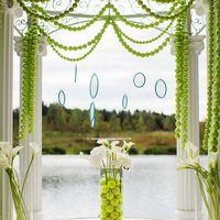 Свадьба, Выездная регистрация в стиле Теннис, каллы, пяльца, салатовый. бирюзовый, белый