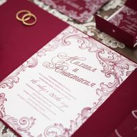 """Коллекция свадебных аксессуаров """"Марсала"""". Приглашение на свадьбу. Студия """"Настя Рай"""""""