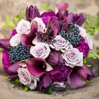 """Букет невесты , фиолетово-сливовая гамма, студия """"Настя Рай"""""""