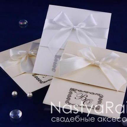 Приглашения на свадьбу с инициалами