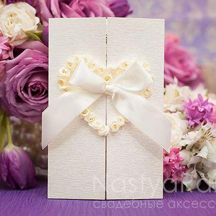 Открывающаяся свадебная открытка