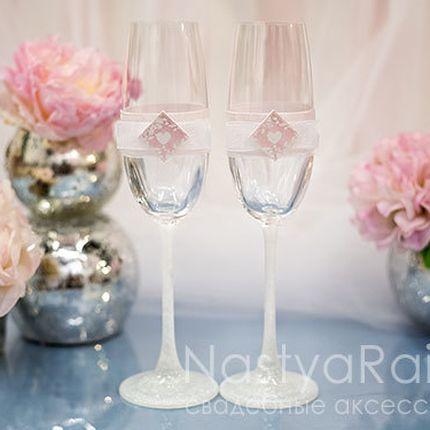 Свадебные фужеры Розовая акварель
