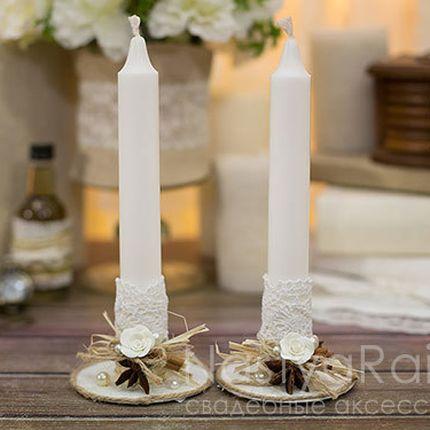 Тонкие свечи рустикальная романтика