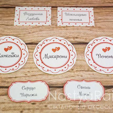 Карточка для сладкого стола
