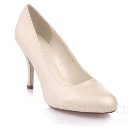 Свадебные туфли с закругленным носом