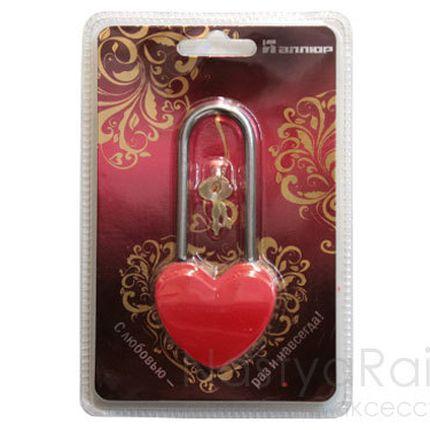 Красный замок-сердечко