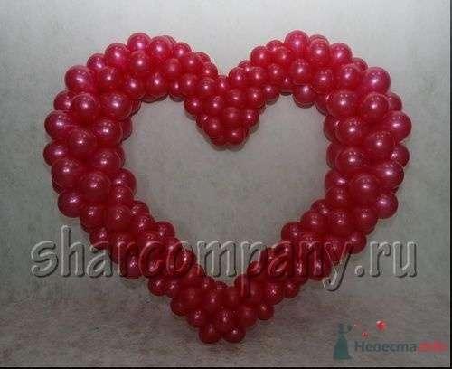"""Нестандартное сердце - фото 15617 Компания """"Шар"""" - оформление"""