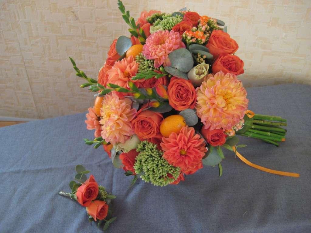 оранжевый букет - фото 2764571 Цветочная мастерская Любови Ветровой