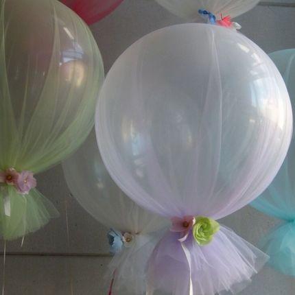 Большие шары украшенные фатином