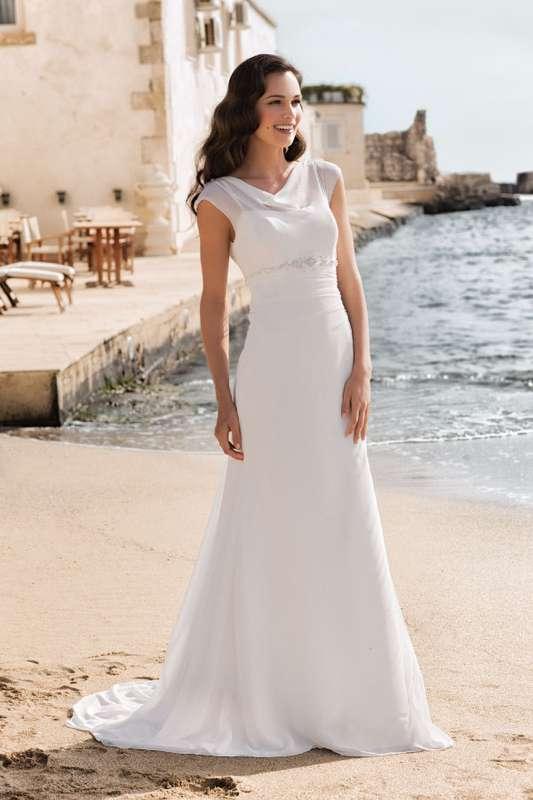 Легкое платье из шифона подчеркивает элегантность, женственность и изящество! - фото 2384488 Свадебный салон Belgica