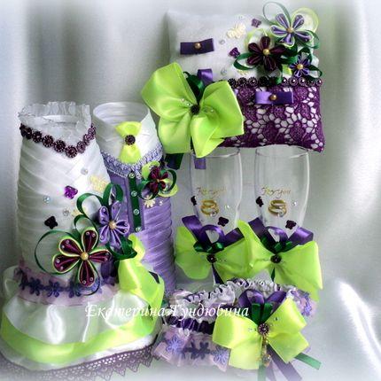 Комплект аксессуаров для весенней свадьбы