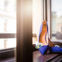 Свадебные туфли невесты синего цвета