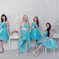 Фото в бирюзовых платьях