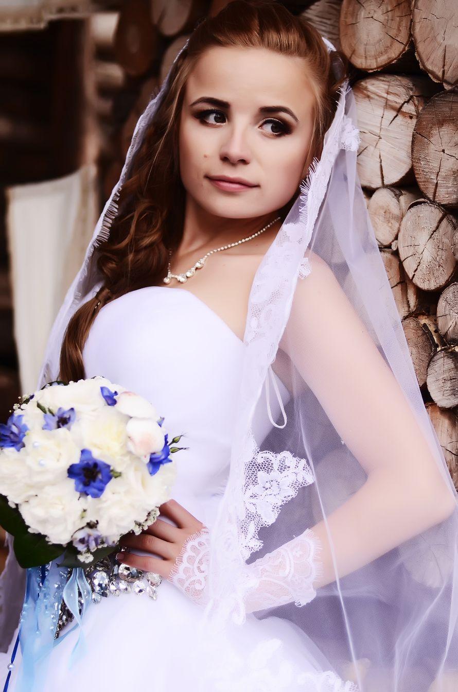 Бело-синий букет невесты. - фото 2410149 Фотограф Светлана Герасименко