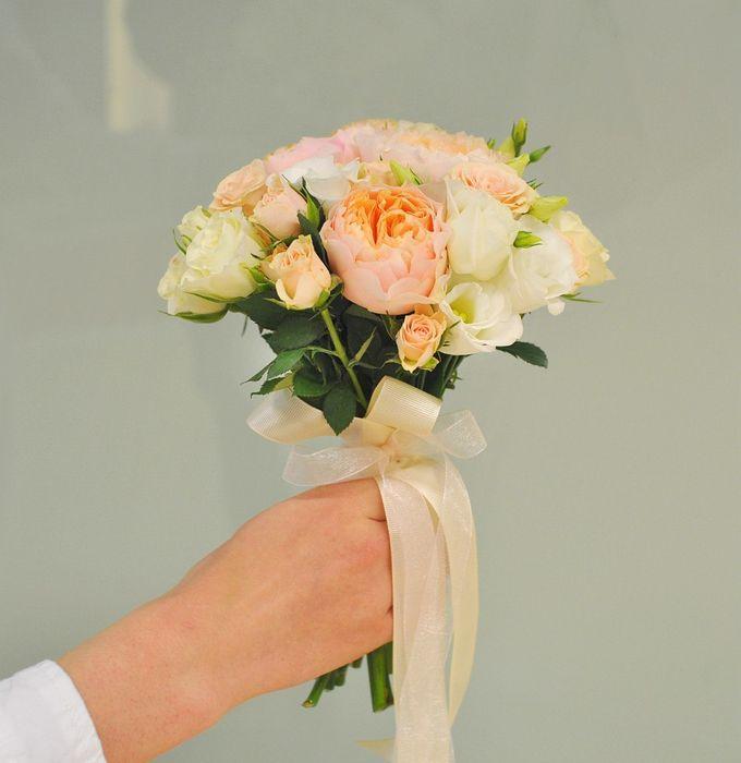 Свадебный букет невесты из маленьких роз своими руками, доставка цветов голландии