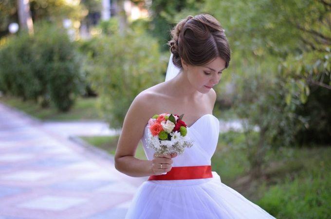 Свадебная прическа и макияж для Елены