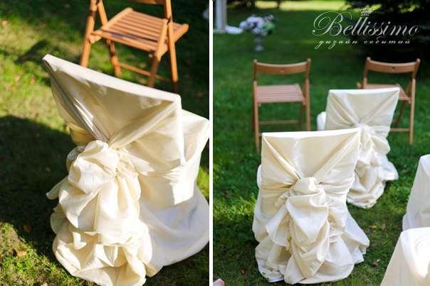 Чехол для стула - наш авторский дизайн. - фото 2443699 Студия оформления торжеств Bellissimo