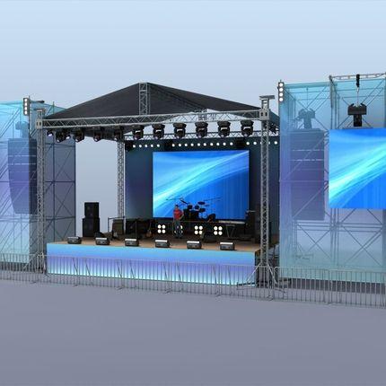 Аренда звукового оборудования со сценой