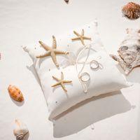 Подушечка для колец с морскими звёздами
