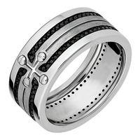 Золото 585, черные бриллианты