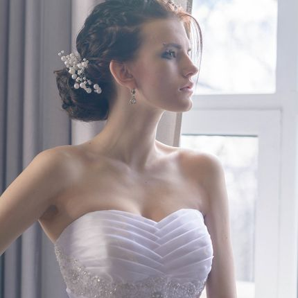 Постановочная свадебная фотосессия