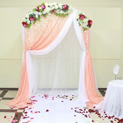 Декор выездной регистрации брака
