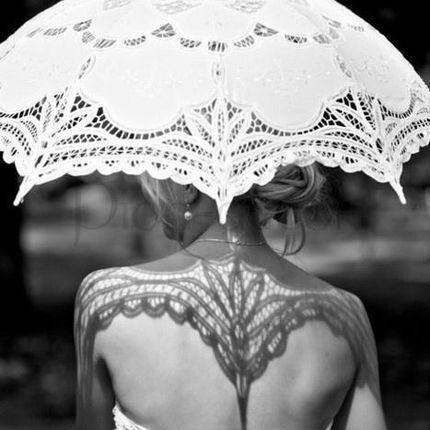 Кружевной зонт для фотосессии