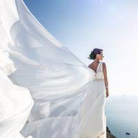 Наташа-волшебная невеста на Санторини.