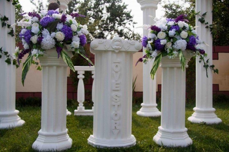 Колонны из цветов своими руками 731