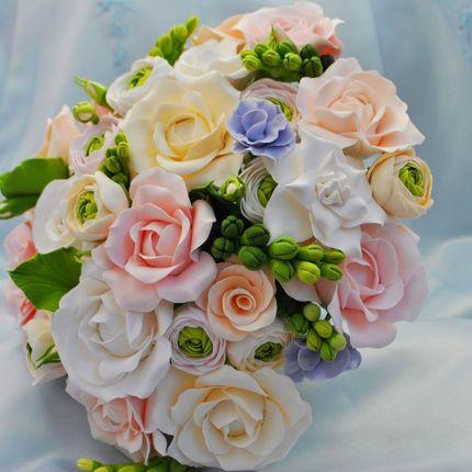Букет невесты ручной работы Весенний день