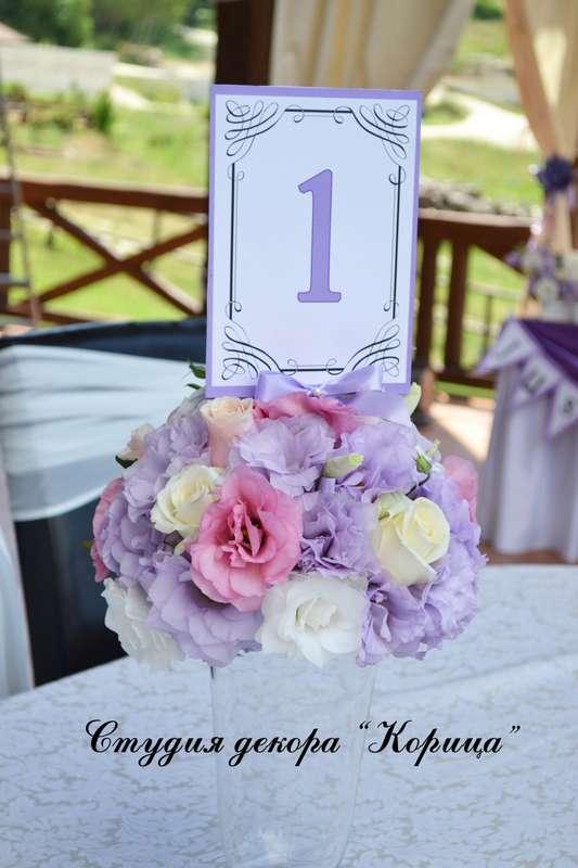 """Букет из розовых, сиреневых и белых лизиантусов, кремовых роз и лунных гвоздик. - фото 2710915 Студия """"Корица"""" - свадебный декор и флористика"""