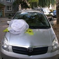 Роза на свадебную машину своими руками