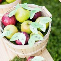 Свежие яблоки в декоре