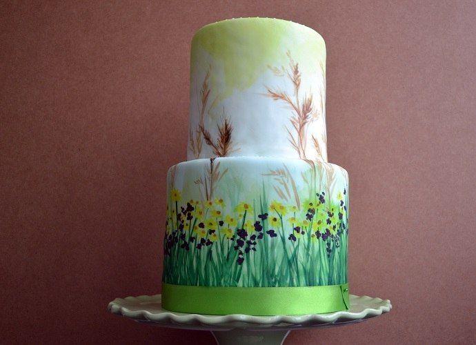 Художественное украшение тортов фото