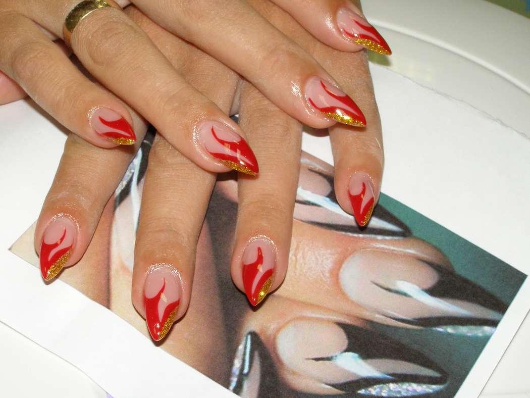 Френч дизайн ногтей гелями каталог