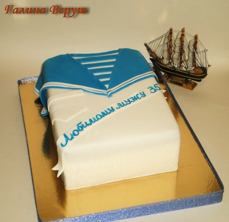 Торт моряка для детей фото