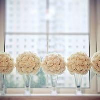 Украшения на столы, сделанные руками невесты