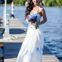 Свадебное платье в морском стиле
