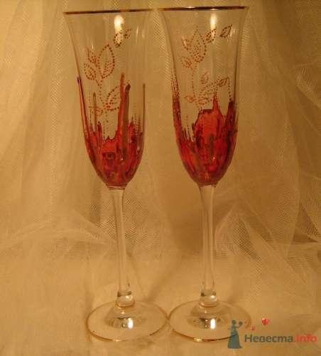 """Свадебные бокалы - фото 17176 """"Ileli"""" - свадебные бокалы ручной росписи"""