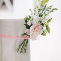 милые, нежны и воздушные букетики украшали проход символичекой церемонии