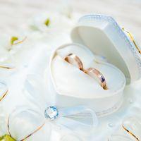 Коробочка для колец на свадьбе Алены и Дмитрия