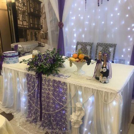 Украшение свадебного стола и зала