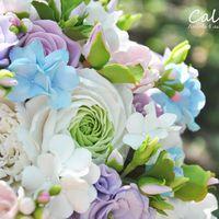 """Букет невесты """"Dreams of Mary"""" Полимерная глина, флористические материалы, атласная лента Ранункулюсы, розы, пионы, гортензия, матиола, эустома"""