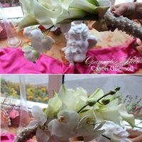 Букет  Невесты из калл и орхидеи фаленопсис!