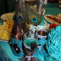 Декор бутылок жениха и невесты, свадебная полиграфия -оформление ручная работа!